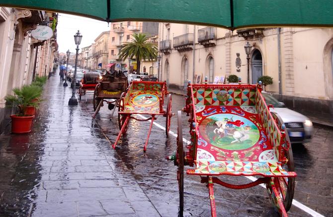 Traditional carts, Piedimonte Etneo, Sicily